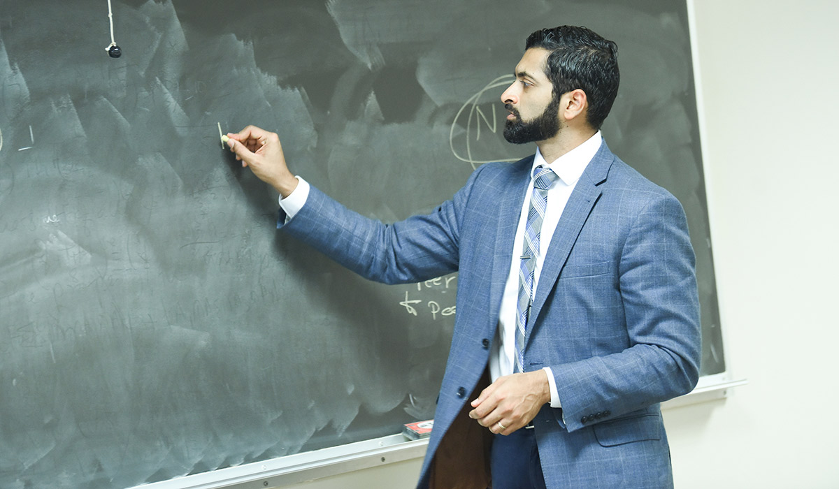 Department Chair teaching a class